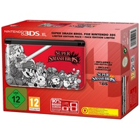 Nintendo 3DS XL rot + Super Smash Bros. (Bundle)