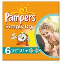 Pampers Simply Dry 16+ kg 31 Stück