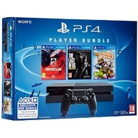 Sony PS4 500GB schwarz + DriveClub + LittleBigPlanet 3 + The Last of Us: Remastered (Bundle)