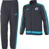 Adidas FC Schalke 04 Kinder Präsentationsanzug 2016 night grey/super cyan Gr. 140