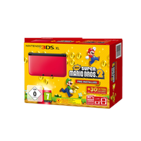 Nintendo 3DS XL rot + New Super Mario Bros. 2 (Bundle)