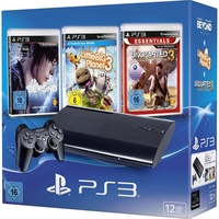 Sony PS3 Slim 12GB + Beyond: Two Souls + LittleBigPlanet 3 + Uncharted 3: Drake's Deception (Bundle)