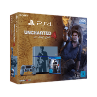 Sony PS4 1TB (Modell 2015) grau / blau + Uncharted 4: A Thief's End (Bundle)