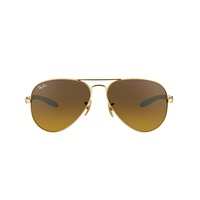 Ray Ban Aviator Carbon Fibre RB8307 matte gold / brown gradient dark brown