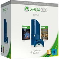 Microsoft Xbox 360 500GB blau + Max: The Curse of Brotherhood + Toy Soldiers (Limited Edition)