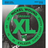 Daddario EXL220S Bass Short Scale 040-095