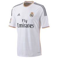 Adidas Real Madrid Herren Heim Trikot 2013/2014 white/lead/light orange XL