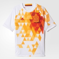 Adidas Spanien Kinder Auswärts Trikot EM 2016 white/power red Gr. 152