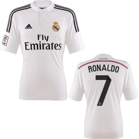 Adidas Real Madrid Kinder Heim Trikot Ronaldo 2015 bright yellow/chelsea blue Gr. 128
