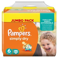 Pampers Simply Dry 15+ kg 62 Stück