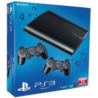 Sony PS3 Super Slim 12GB + 2x DualShock 3 Controller