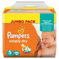 Pampers Simply Dry 11-25 kg 2 x 66 Stück
