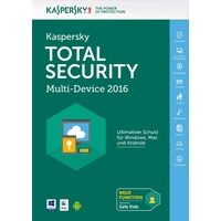 Kaspersky Lab Total Security Multi-Device 2016 3 User DE Win Mac Android