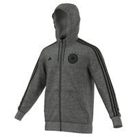 Adidas DFB Herren 3 Streifen Kapuzenjacke EM 2016 dark grey heather/black XL