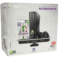 Microsoft Xbox 360 Slim 4GB + Kinect + Your Shape: Fitness Evolved 2012 + Kinect Adventures (Bundle)