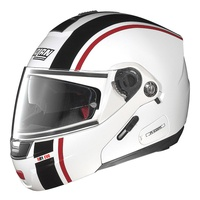 Nolan N91 Evo Strip N-Com White/Black/Red