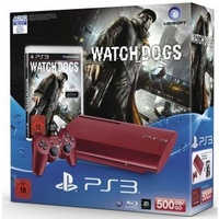 Sony PS3 500GB rot + Watch Dogs (Bundle)