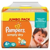Pampers Simply Dry 9-20 kg 2 x 70 Stück