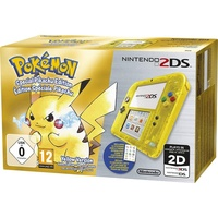 Nintendo 2DS transparent gelb + Pokemon Gelbe Edition (Bundle)